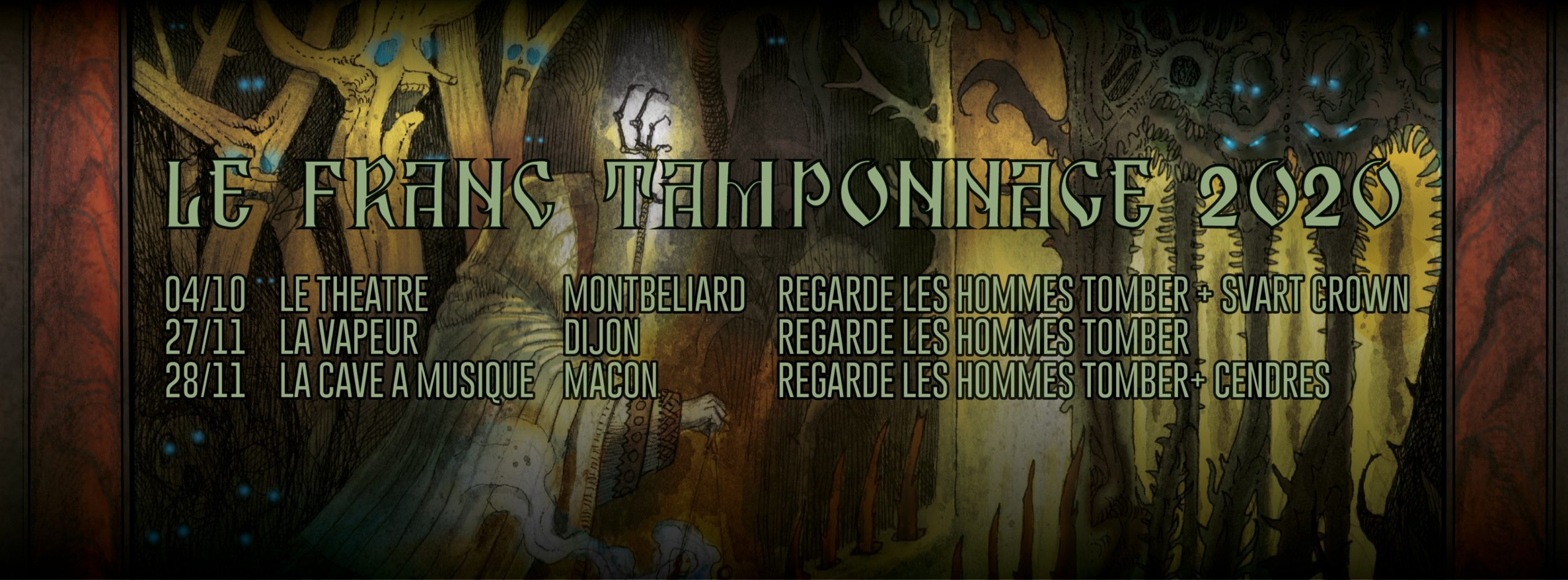 Live Report – French Black Metal – SVART CROWN and REGARDE LES HOMMES TOMBER in Montbéliard, France, 04/10/2020
