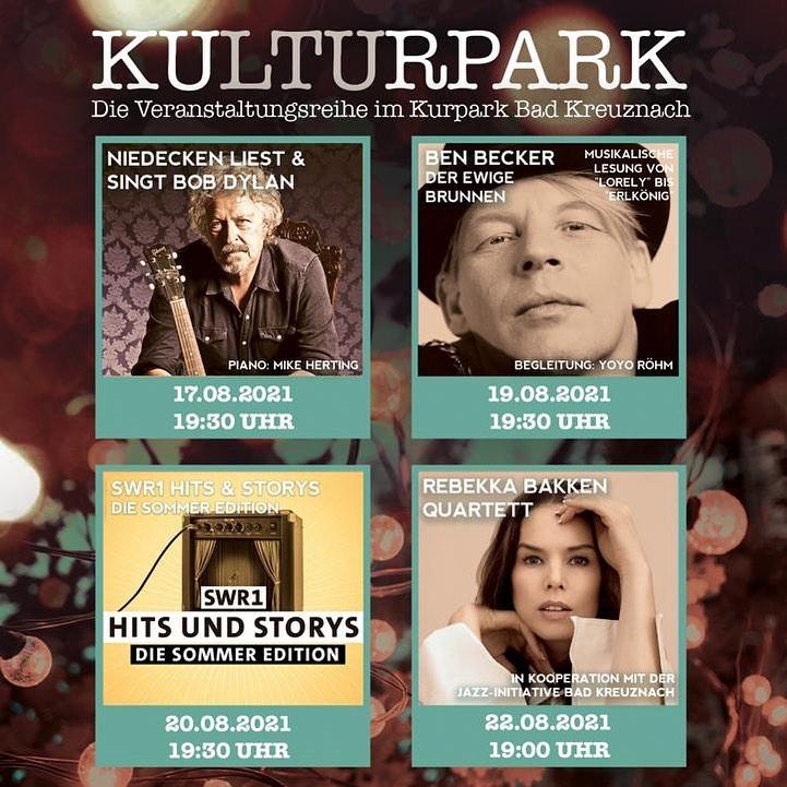 Kulturpark: Konzertreihe in Bad Kreuznach – Wolfgang Niedecken, Ben Becker, Rebekka Bakken